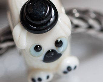 Small Core Artisan Bead  Little Dog SRA Lampwork Beads BHB