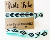 Bride Tribe Party Favor Gift Card and Hair Tie, Bridal Shower, Bachelorette, Wedding Day Survival kit, Hangover kit, gift for Bridesmaid