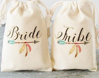 Bride Tribe, Gift for Bridesmaid, Favor Bag, Custom Tote Bag, Bachelorette, Fall Wedding Ideas, Hangover Kit, Birthday Tribe, wild and free