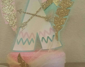 Tribal 1st Birthday Party Wild One table centerpiece Decor You choose colors!
