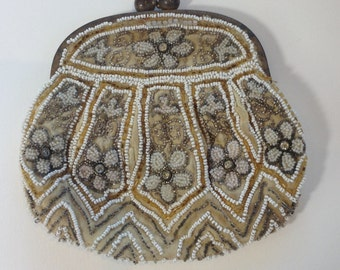 1930's French Beaded Purse