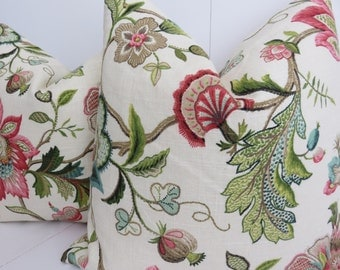Decorative Pillow Cover,Flowery Pillow Cover, 18x18,Beige Pillow Cover,Pink Pillow Cover, Cream Pillow Cover,Ivory Pillow Cover