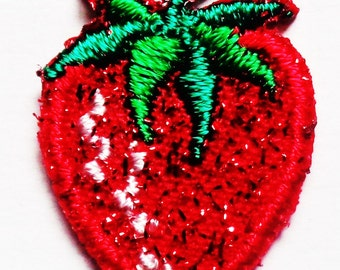Iron On Patch Applique - Strawberry Mini