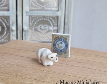 Vintage Style Polar Bear Deodorizer in 1:12 Scale for Dollhouse Miniature 20th Century Kitchen