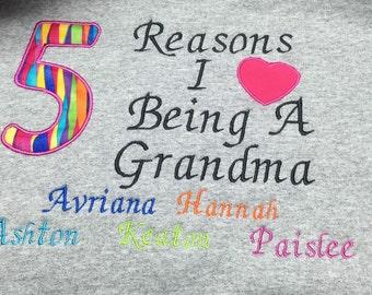 Personalized  hoodie grandma sweatshirt s-l
