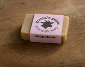 Organic Grapefruit Goat Milk Soap from Hand Milked Goats that Graze on Organically Managed Pasture