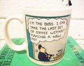 Dilbert Coffee Mug Vintage Office Humor Scott Adams Boss Jerk cubicle decor