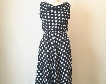 Vintage Large Polka Dot Dress