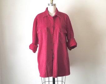 Vintage Classic LL Bean Raspberry Button Down Shirt