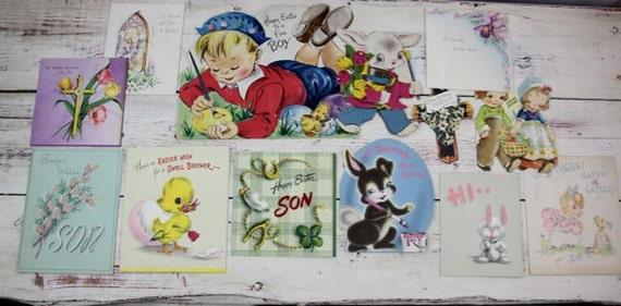 12 Easter Cards Vintage