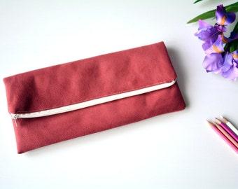 Burgundy suede clutch - red clutch,  bridesmaid clutch, bridal clutch, red purse, bags and purses, handmade bag