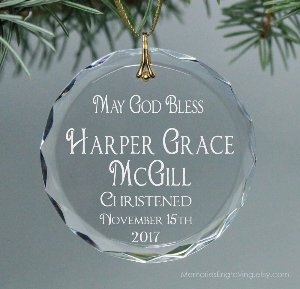 Personalized name ornaments - Christening Infant Baptism Or Infant Dedication Christmas Holiday Ornament Personalized Keepsake With Name