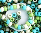 10g Toho Seed Beads Mix - Garden Path - MayaHoney Special Mix, 6/0 size, turquoise, green, hybrid rocailles - S1035
