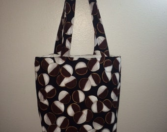 Black and White Cookies print fabric handmade Tote Bag