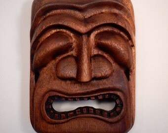 Hawaiian Tiki Mask by Leo Hagen