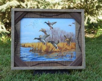 Barnwood Frame with Ducks Unlimited decorative Mallard duck photo