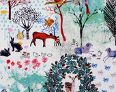 2151 - 1 yard Slight Sanding Cotton Fabric - tree and animal (width=140cm)