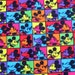 """2035  - 1 yard Cotton fabric - mikey and patch (140cmx91.44cm,55""""x36"""")"""