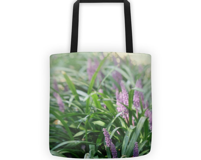 Purple Lavender Tote for Eco Shopping and School and Sundry