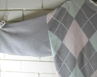 80s Argyle sweater size L
