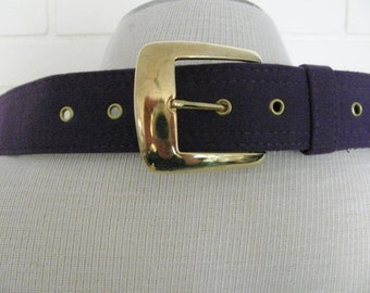 80's wide purple belt size S