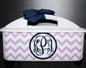 Personalized Chevron Shower Caddy - Must-Haves for Camp, Dorm Room & Sorority House - Best Seller Graduation Gift - Assorted Colors/Designs