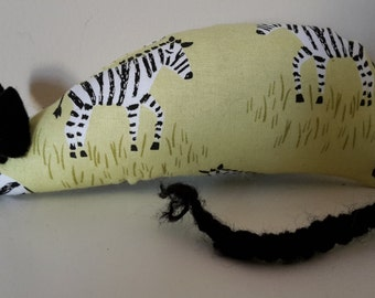Catnip Mouse - Green Zebra design- Cat Toy
