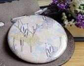 Yellow Bird Pocket Mirror, hen party Gift, Bridesmaid Gift, Wedding favour, Stocking Filler, Bird Compact Mirror, Made in UK, Yellow Mirror