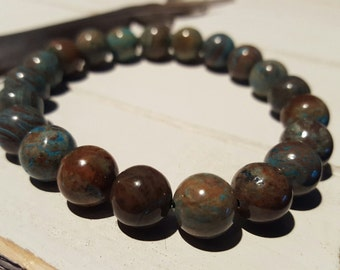 21 - 10MM Bead Imperial Turquoise Jasper
