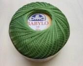 DMC BABYLO crochet thread size 10....olive/sage color