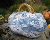 Large project bag. Woodland fabric knitting bag.