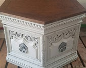 Revived Two Toned Stained and Painted Side Table Nighstand Bedside Table