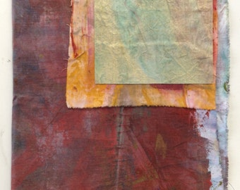 A MIXed group of various sized sample Painted Fabrics #78