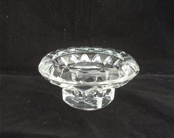 Vintage Bolsius Crystal French Candle Holders, Crystal Candle Holder