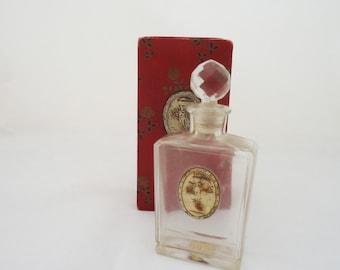 Antique/Vintage Roger and Gallet Fleurs D'Amour Perfume Bottle in Original Box, c1908