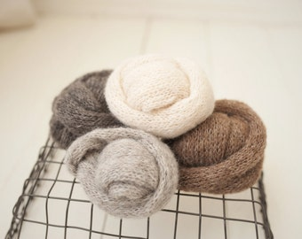 Wisp Wraps Brushed Alpaca Stretch Knit Newborn Prop