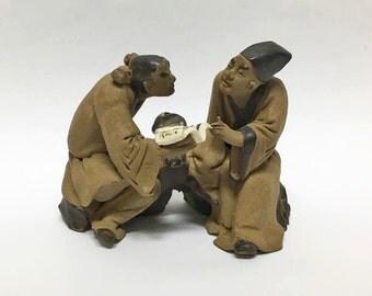 Bonsai Mud Man Figurine Statue ~ Terrarium Decor ~ Zen Garden ~Dish Garden