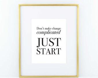 Just Start Print