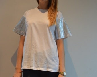 Metallic/foil short sleeve t-shirt