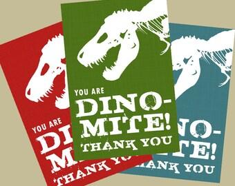 Dinosaur Birthday- Thank You Cards/Tags