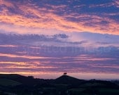 SKYBLUEPINK SUNSET, Dorset, Landscape photography, Wall Decor, Colmer's Hill, Bridport. August