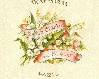 C.1900 FRENCH Paper Label for a Cake of Soap