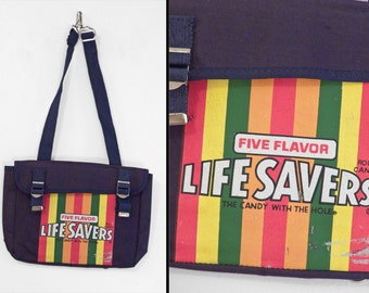 LIFESAVERS Convertible Backpack Tote 1980s Buckle Messenger Bag