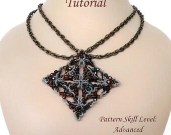 KANOPIO beaded necklace beading tutorial beadweaving pattern seed bead beadwork jewelry beadweaving tutorials beading pattern instructions