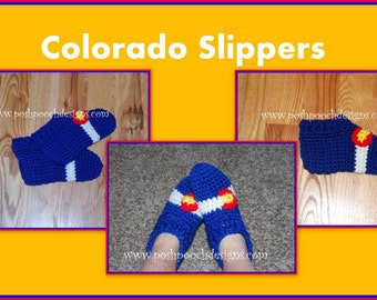 Colorado Flag Chunky Slippers - Custom Made