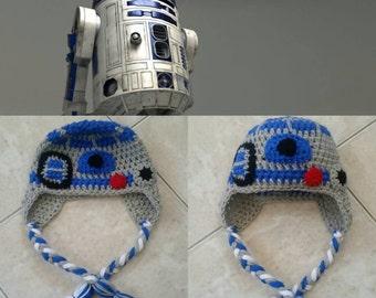 Crochet Star Wars R2-D2 Beanie/Hat