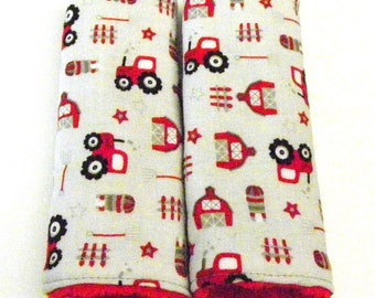 Tractor Car Seat Strap Covers, Stroller Strap Covers, Newborn Strap Covers
