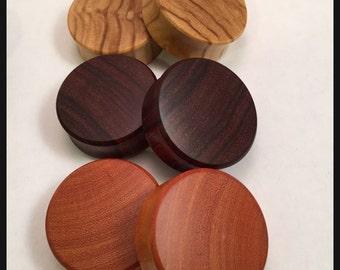 3 pairs Organic Wood Plugs Olivewood Grandaillo Orange Osage