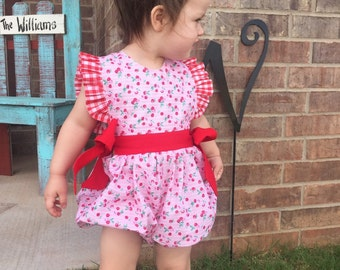 Very Cherry Bubble Romper