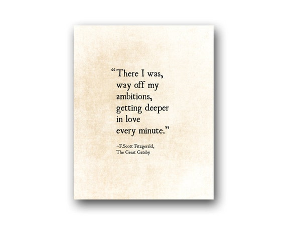 F Scott Fitzgerald Love Quote Enchanting Fscott Fitzgerald Love Quote Getting Deeper In Love